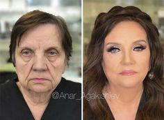 Makeup artist Anar Agakishiev jaw-dropping makeovers shave decades off his clients   #age #aging #anaragakishiev #azerbaijan #beauty #extremerelooking #hair #hairstyle #makeover #makeup #makeupart #nomakeup #relooking #stilistanar