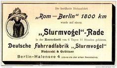 Original-Werbung/ Anzeige 1898 - STURMVOGEL - FAHRRAD / PISKORSKI & GRÜTTNER…