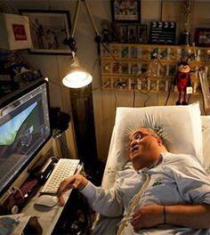 45 años en la cama en un hospital y cumple su sueño de hacer animaciones 3D