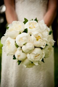 White Peonies Bouquet cpbride.com/blog