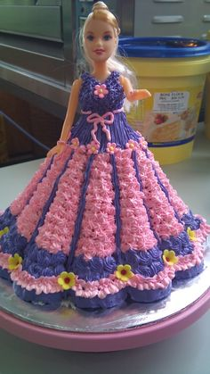 Barbie Doll Cake Pink & Purple