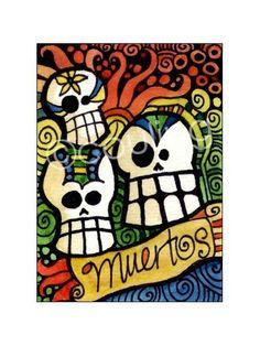 Sugar Skull  Day of the Dead / Dia De Los Meurtos by LunaGraphica, $3.00