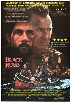 Black Robe poster, t-shirt, mouse pad Sandrine Holt, Cinema Posters, Movie Posters, Dances With Wolves, Best Director, Le Far West, Great Movies, American, Hollywood