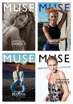 Candice Swanepoel for Muse #30 Summer 2012. Shot by Cass Bird, Collier Schorr and Mariano Vivanco.