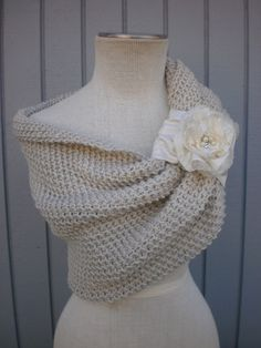 i think i like this one better...you dont want something like this to take away from your dress or be like, fighting with your dress for attention, you know, so maybe something more simple would be better. Bridal Bolero shrug custom order. $114.00, via Etsy.