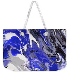 The Rivers Of Babylon Fragment. Abstract Fluid Acrylic Painting Weekender Tote Bag for Sale by Jenny Rainbow Artwork For Home, Fluid Acrylics, Weekender Tote, Cotton Rope, Colour Images, Basic Colors, Weekend Getaways, Abstract Pattern, Bag Sale