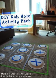DIY Kids Hotel Activity Pack Traveling with kids can be fun, but keeping them entertained in the hotel room can be tricky. Find some easy games and kids activities in this DIY Kids Hotel. The post DIY Kids Hotel Activity Pack appeared first on Welcome! Projects For Kids, Diy For Kids, Crafts For Kids, Diy Projects, Summer Crafts, Summer Activities, Family Activities, Summer Games, Summer Fun