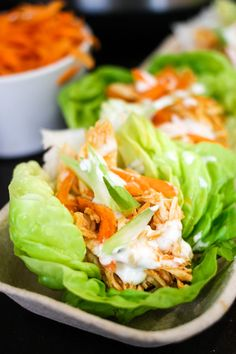 Instant Pot Buffalo Chicken Lettuce wraps are the perfect healthy chicken recipe! Make the spicy chicken in just minutes, then load up fresh lettuce wraps with your favorite toppings! Buffalo Chicken Lettuce Wraps, Chicken Wraps, Lemon Garlic Chicken, Healthy Chicken Recipes, Keto Recipes, Spicy Recipes, Ketogenic Recipes, Diabetic Recipes, Free Recipes