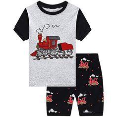 100/% cotone a maniche corte Popshion abbigliamento estivo per bambini da 2 a 7 anni pigiama per bambini con dinosauro