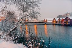 Beautiful Trondheim in the winter! - This is such a wonderful atmosphere in the beautiful Trondheim in Norway.