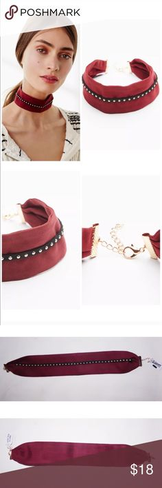 """FREE PEOPLE MAGIC MYSTERY SUEDE CHOKER NECKLACE FREE PEOPLE MAGIC MYSTERY EMBELLISHED SUEDE CHOKER NECKLACE brand new with tag. DETAILS Wide super soft suede choker embellished with a metal design. This style adds a little something extra to any look. Adjustable lobster clasp closure.  Suede Velvet Metal/real leather strip Import Length: 15"""" = 38.1 c Free People Jewelry Necklaces"""