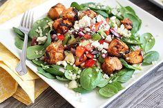 Tandoori Chicken and Spinach Salad | Skinny Mom
