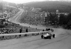 Jochen Rindt - Cooper-Maserati - 1966 Belgian Grand Prix (old Spa Franchochamps) Sports Car Racing, Race Cars, Auto Racing, Maserati, Formula 1, Jochen Rindt, Belgian Grand Prix, Gilles Villeneuve, Spa