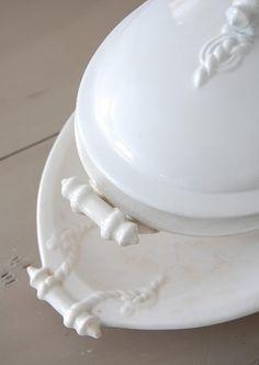 ...white ironstone tureen...