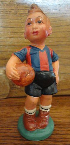 Figura de fútbol del F.C.Barcelona (España) 1940. (Colección particular de Pablo Gines)