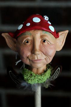 Polymer Clay Elf Head