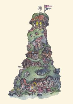 ArtStation - Little homes - Series, Fergal O' Connor What Inspires You, Environment Design, Little Houses, Love Art, Sketches, Animation, Concept, Fantasy, Architecture