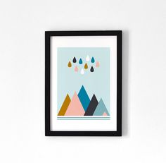 Mountains & Rain / A4 Print by oelwein on Etsy, €19.00