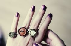 DIY button rings