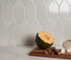 Debris Series Recycled Ceramic Tile Picket pattern by Fireclay Tile via Atticmag
