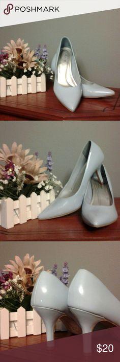 Shoes Womens 3inch baby blue comfort plus heels Shoes Heels