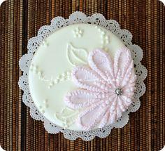 Flower Cookie Daisy Cookie Pink Daisy by katiesomethingsweet