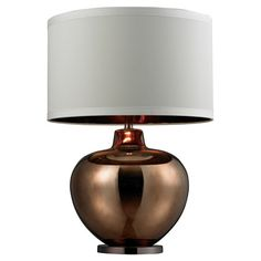 Artfully illuminate your living room or master suite with this eye-catching table lamp, showcasing a mercury glass and steel base with a bronze finish.