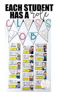 Help Wanted: Classroom Jobs! - The First Grade Parade Classroom Jobs Board, Classroom Jobs Display, First Grade Classroom, Primary Classroom, Classroom Design, Classroom Management, Classroom Ideas, Behavior Management, Bulletin Boards