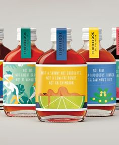 Elderbrook drinks packaging design by & SMITH
