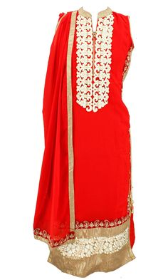 Design 11 - #Kurti with swanky #embroidery in the #neckline