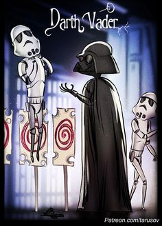 I Illustrate What Would Happen If Tim Burton Directed Star Wars Movies
