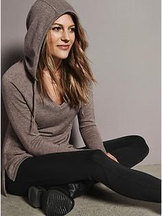 Merino Soma Sweater | Athleta Love this mushroom color and the sweater style for a work at home uniform.
