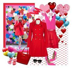 """Hearts....Everywhere...."" by carola-corana ❤ liked on Polyvore featuring moda, Kenzo, DKNY, Yumi, Christian Louboutin, Mulberry, Yves Saint Laurent, women's clothing, women e female"