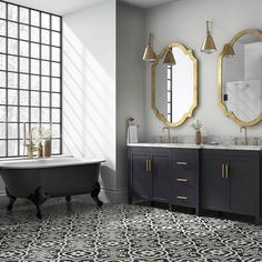 Black and white kitchen floor designs tile ideas vinyl tiles bathroom top trends in design ou Vinyl Tile Bathroom, White Mosaic Bathroom, Black And White Bathroom Floor, White Kitchen Floor, Painting Bathroom Tiles, Bathtub Tile, Vinyl Tiles, Bathroom Floor Tiles, Tile Floor