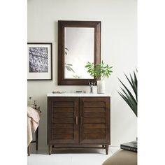 "Rosecliff Heights Denton 36"" Single Bathroom Vanity Set Base Finish: Burnished Mahogany, Top Finish: Santa Cecilia Granite, Top Thickness: 4cm"