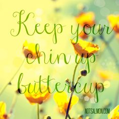 Keep your chin up buttercup.
