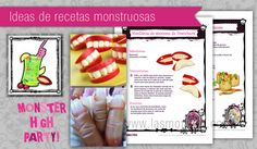 Comida Monster High para fiesta