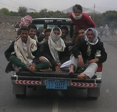 On the road, Yemen.