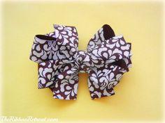 The Ribbon Retreat * Triple Stack Bow Ribbon Hair Bows, Diy Hair Bows, Ribbon Retreat, Making Hair Bows, Bow Making, Hair Bow Tutorial, Ribbon Crafts, Diy Crafts, Diy Bow