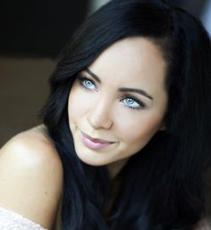 Ksenia Solo...those eyes are KILLER! Contrasts nicely with dark hair & porcelain skin! #teamgirlswithdarkhairandblueeyes
