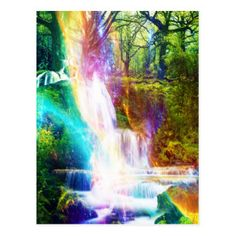 Rainbow Girl Garden Postcard