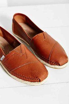 TOMS Leather Espadrille