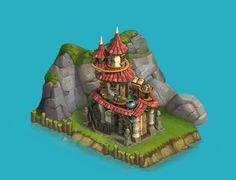 "ArtStation - Buildings for social game ""loyalty"", Artem Hodas"