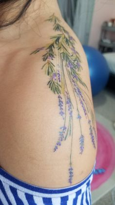 Lavender and Rosemary boquet by Anna Cojocari. The Warren Tattoo, Los Angeles - tattoos Mini Tattoos, Leg Tattoos, Body Art Tattoos, Ankle Tattoo, Tatoos, Flower Tattoo Designs, Flower Tattoos, Mom Tattoo Designs, Tulip Tattoo