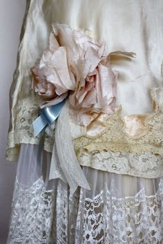 pretty lace repurposed skirt by Christine Rose Elle