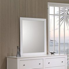 Coaster Home Furnishings 400234 Transitional Mirror, White Coaster Home Furnishings