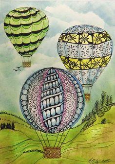 pattern hot air balloons