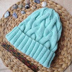 Шапочка Ice Mint из мериноса - мятный,однотонный,шапка,шапочка,вязаная шапочка