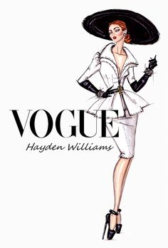 Hayden Williams Fashion Illustrations: 'Suits Her Well' by Hayden Williams
