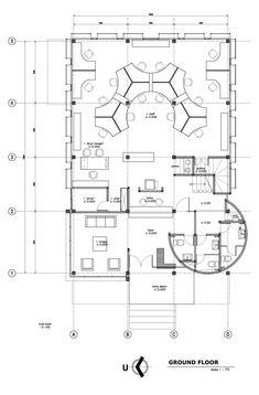 Gallery of KCN Office / Atelier Cosmas Gozali – 18 – home office design layout Small Office Design, Small Space Office, Office Interior Design, Office Interiors, Home Interior, Office Layout Plan, Office Floor Plan, Home Office Layouts, Office Space Planning